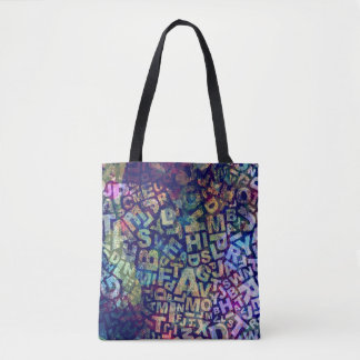 English Teacher Writer Alphabet Letters Tote Bag
