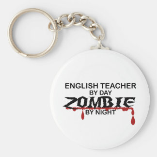 English Teacher Zombie Basic Round Button Key Ring