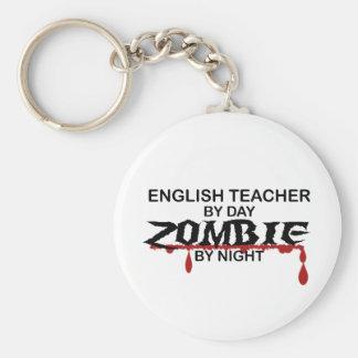 English Teacher Zombie Basic Round Button Key Ring