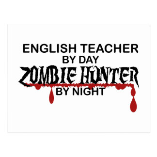 English Teacher Zombie Hunter Postcard