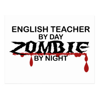 English Teacher Zombie Postcard