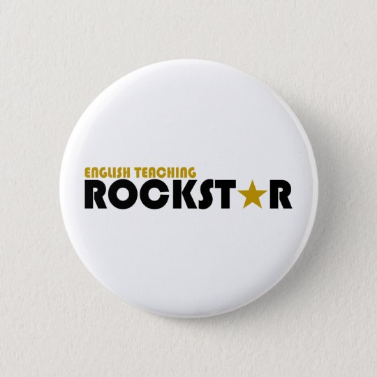 English Teaching Rockstar 6 Cm Round Badge