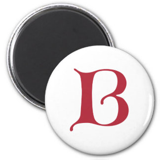 English text Gothic Monogram letter B Magnet