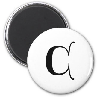English text Gothic Monogram letter C Magnet
