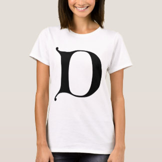 English text Gothic Monogram letter D T-Shirt