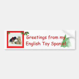 English Toy Spaniel Christmas Bumper Sticker