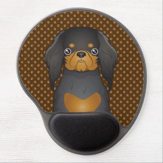 English Toy Spaniel Dog Cartoon Paws Gel Mouse Pads