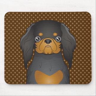 English Toy Spaniel Dog Cartoon Paws Mousepads