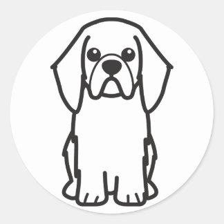 English Toy Spaniel Dog Cartoon Round Sticker