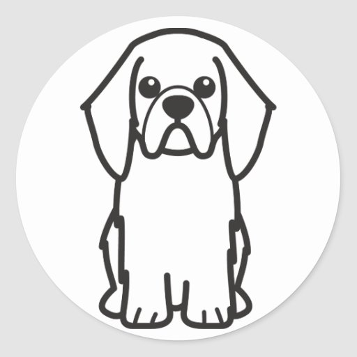 English Toy Spaniel Dog Cartoon Sticker