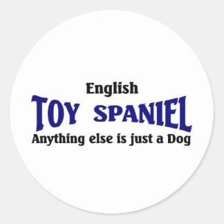 English Toy Spaniel Dog Round Sticker