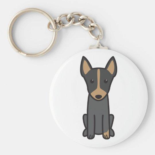 English Toy Terrier Dog Cartoon Key Ring