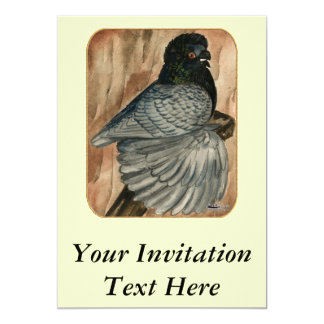 English Trumpeter:  1980 Andalusian 13 Cm X 18 Cm Invitation Card