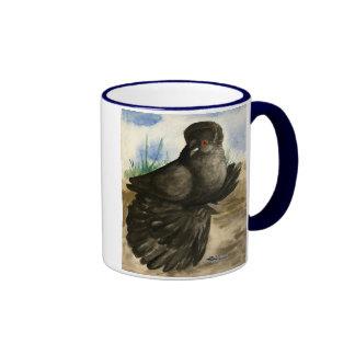 English Trumpeter Dun Pigeon Ringer Coffee Mug