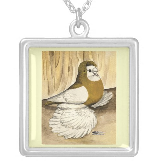 English Trumpeter Yellow Magpie Custom Necklace