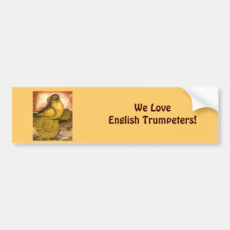 English Trumpeter Yellow Self Bumper Sticker