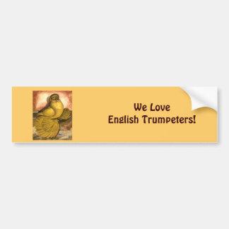 English Trumpeter Yellow Self Bumper Sticker