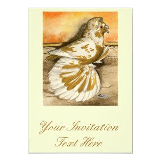 English Trumpeter Yellow Splash 13 Cm X 18 Cm Invitation Card