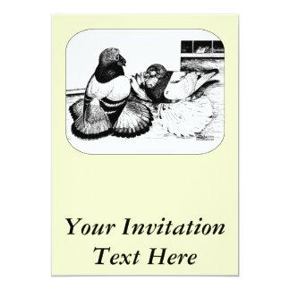 English Trumpeters 13 Cm X 18 Cm Invitation Card