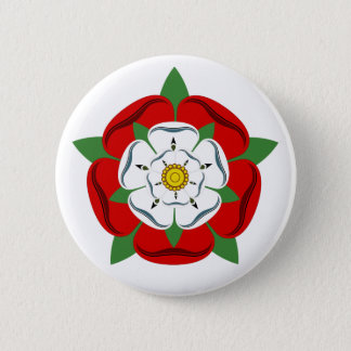 English Tudor Rose 6 Cm Round Badge