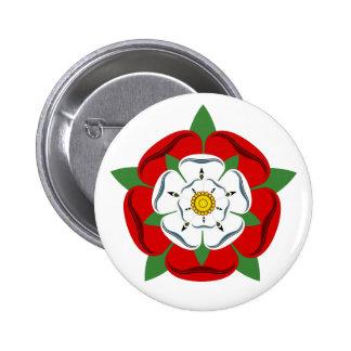 English Tudor Rose 6 Cm Round Badge