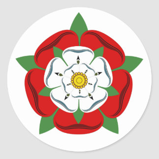 English Tudor Rose Classic Round Sticker