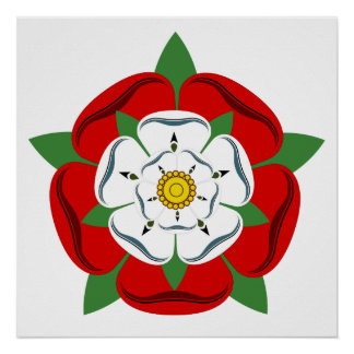 English Tudor Rose Poster
