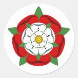 English Tudor Rose Round Sticker
