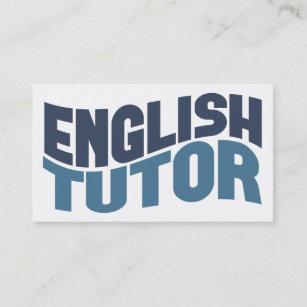 English Tutor Business Cards