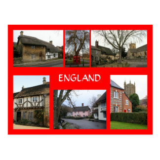 English Village Scenes Postcard