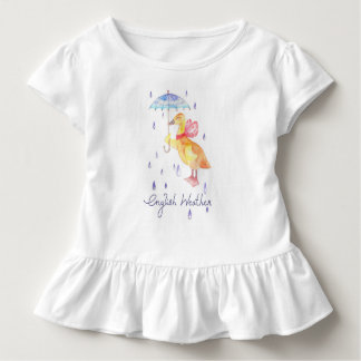 """English Weather"" Toddler Ruffle Tee"