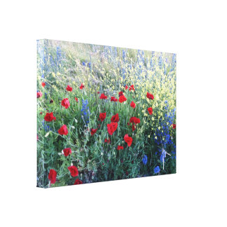 English Wildflowers Canvas Print