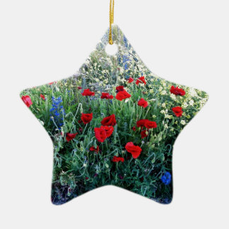 English Wildflowers Christmas Ornament