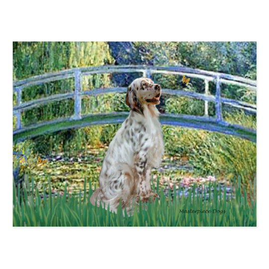 EnglishSetter 1 - Bridge Postcard