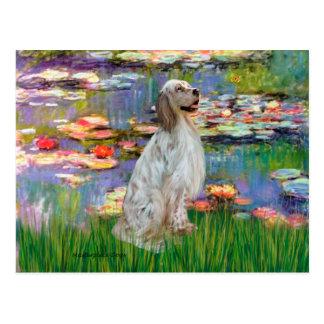 EnglishSetter 1 - Lilies 2 Postcard
