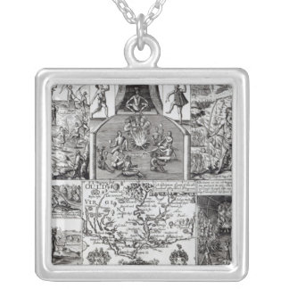 Engraved by Robert Vaughan Square Pendant Necklace
