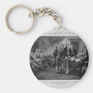 Engraved Declaration of Independence John Trumbull Key Chains