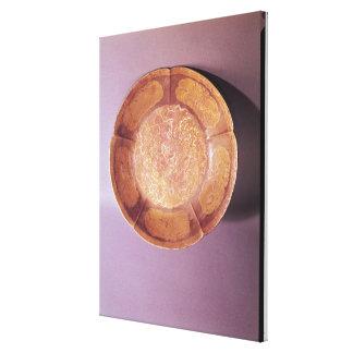 Engraved dish, Tang dynasty Canvas Print