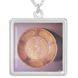 Engraved dish, Tang dynasty Silver Plated Necklace