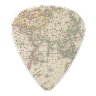 Engraved Eastern Hemisphere Map Acetal Guitar Pick