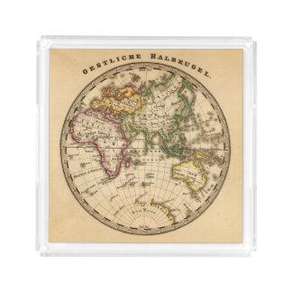 Engraved Eastern Hemisphere Map Acrylic Tray
