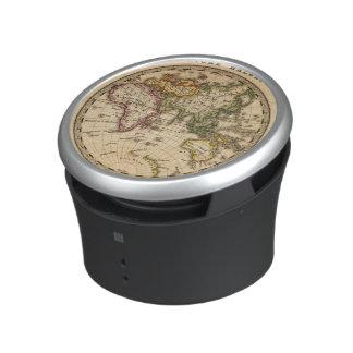 Engraved Eastern Hemisphere Map Bluetooth Speaker