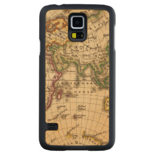 Engraved Eastern Hemisphere Map Carved Maple Galaxy S5 Case
