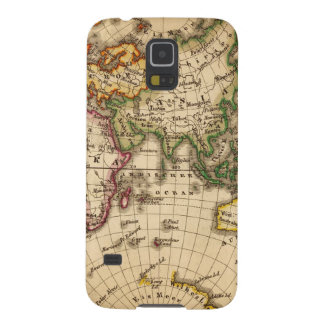 Engraved Eastern Hemisphere Map Galaxy S5 Cover