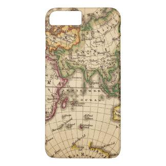 Engraved Eastern Hemisphere Map iPhone 7 Plus Case