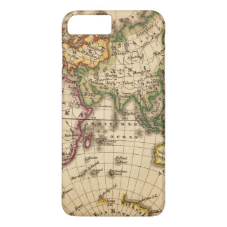 Engraved Eastern Hemisphere Map iPhone 8 Plus/7 Plus Case