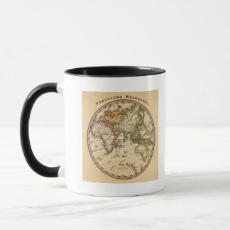Engraved Eastern Hemisphere Map Mug