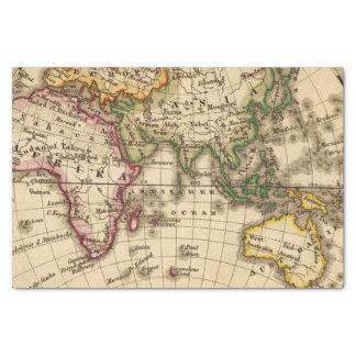 Engraved Eastern Hemisphere Map Tissue Paper