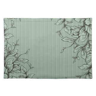 Engraved Leaves and Vines Placemat