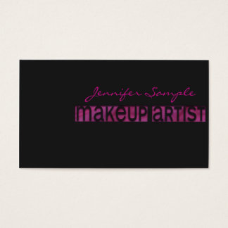 Engraved Makeup Artist Business Card